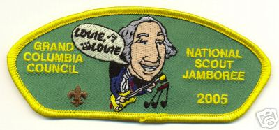 Patch used by the Washignton State councli for the 2005 National Scout Jamboree